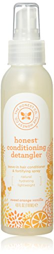 The Honest Company - Conditioning Detangler, Leave-In Conditioner and Fortifying Spray - Sweet Orange Vanilla, 4 fl oz (2 Pack)