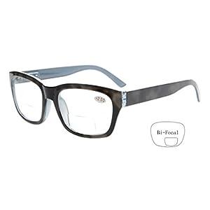 Eyekepper Polycarbonate Large Lens Line Bifocal Glasses Readers Men Grey +1.5