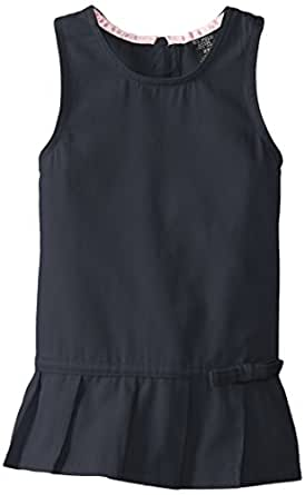 U.S. Polo Assn. Toddler Girls' Dress or Jumper (More Styles Available), Twill Navy-SMKG, 2T