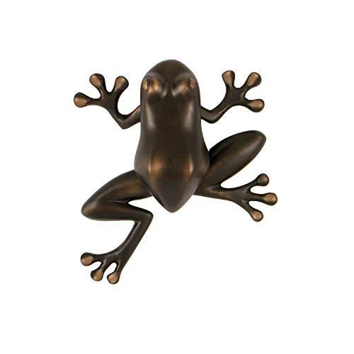 Tree Frog Door Knocker - Oiled Bronze (Premium Size)