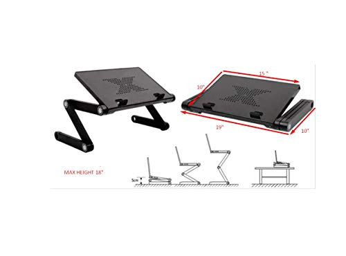 Desk York Vented Laptop Stand - in Bed,Couch,Sofa or Recliner-Great Birthday Gift for Friends Men Women Student-Book Reading-Foldable Computer Stand for Office-Lap Tray- Basic Black by Desk York (Image #5)