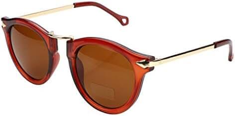 FEISEDY Vintage Design Round Resin Frame Plastic Lenses Women Sunglasses