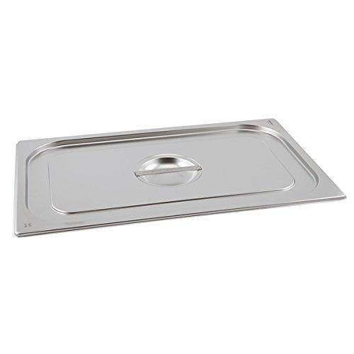 Genware nev-gn23-lid stainless steel Gastronorm padella con coperchio, misura 2/3