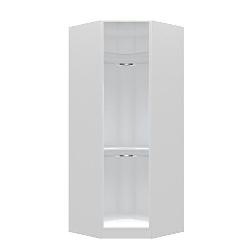 Manhattan Comfort Chelsea Collection Free Standing Corner Wardrobe Closet,  36.22u0027u0027 Wide, White