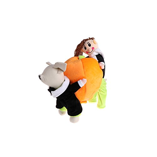 Kimnny Pet Costume, Funny Pet Dog Pumpkin Santa Claus Halloween Costume Fancy Clothes Jacket Coat S]()