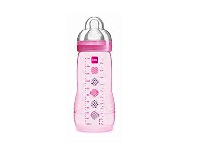 Segundo Faded Botella Edad MAM Baby, de 330 ml, a partir de 6 meses, Chupete Flujo X, Rose