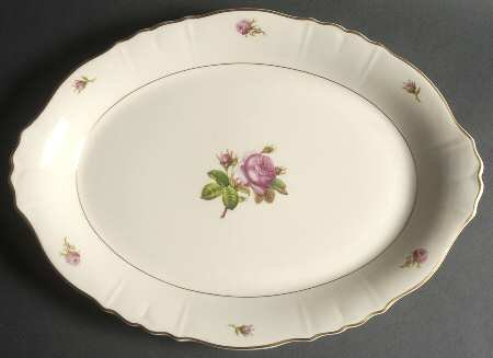 Syracuse China VICTORIA federal shape Large Serving Platter - 16