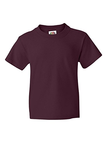 FOL Boys 5 oz.Heavy Cotton HD T-Shirt (3931B) -MAROON -L