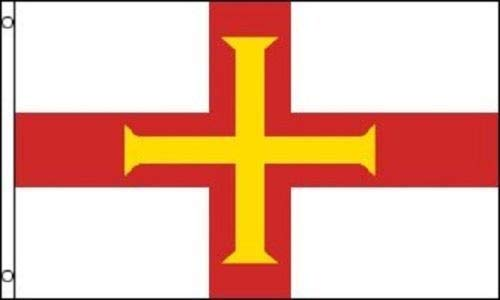 (ALBATROS 3 ft x 5 ft Guernsey British Dependency Baliwick Flag Banner Brass Grommets for Home and Parades, Official Party, All Weather Indoors Outdoors)