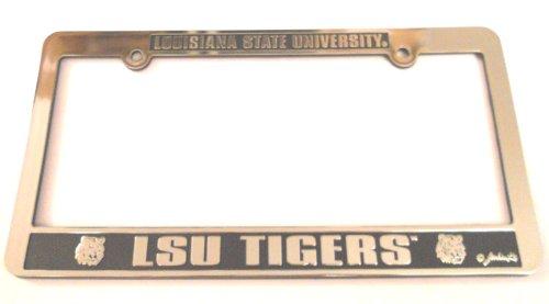 LSU Tigers Silver & Black Auto License Frame