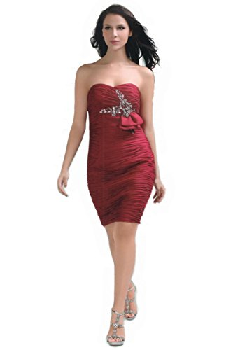 JuJu Christine amp; Top Donna Bordeaux Vestito RrR5wqxAC