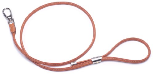 Petego La Cinopelca Tubular Soft Calfskin Dog Leash, Orange, 43 1/4 Inches, My Pet Supplies