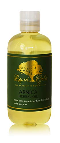 8 Fl.oz Liquid Gold Arnica Herbal Oil 100% Pure & Organic for Skin Hair and Health Care ()