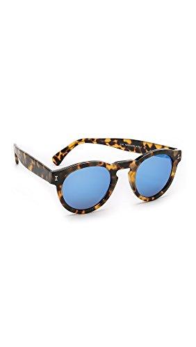 Illesteva Women's Leonard Mirrored Sunglasses, Tortoise/Blue, One - Sunglasses For Illesteva Women