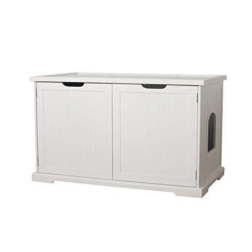 Best cat litter box furniture - Merry Products Cat Washroom Bench, White