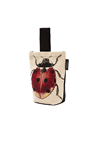 McAlister Textiles Decorative Door Stopper Wedge 8x6 - UNFILLED Door Stop Fabric with Red and Black Ladybird Insect Design for an Accent Decor in Bedroom and Bathroom