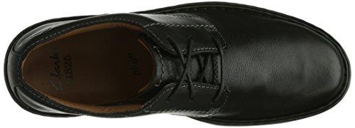 Clarks Stratton Way - zapatos con cordones de cuero hombre Negro (Black Leather)