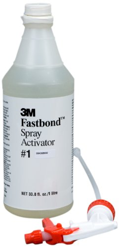 - 3M 1 Fastbond Spray Activator, 1 Liter Spray Bottle (Pack of 6)