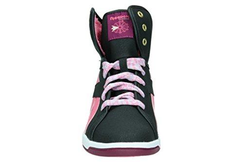 Reebok FLIP REEVIVAL COZY Basket mode fille Noir/Rose 34