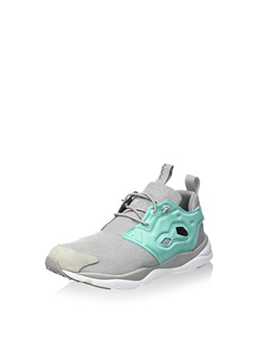 Reebok Furylite Asymmetrical Chaussures de Sport Femme Gris / Verde / Blanco (Tin Grey/Emerald Sea/Shark/White)