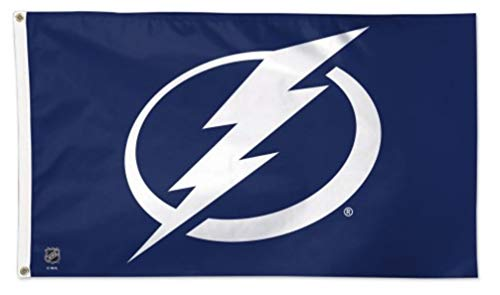 WinCraft NHL Tampa Bay Lightning Deluxe 3'x5' Premium Fabric Flag with Grommets