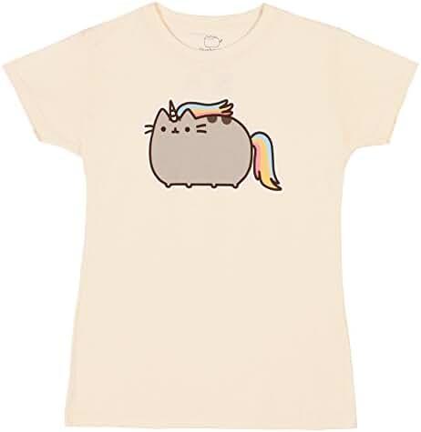 Pusheen The Cat Rainbow Unicorn Juniors Tee