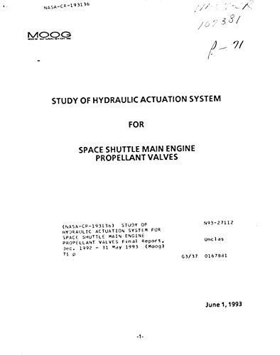 Study of hydraulic actuation system for Space Shuttle main engine propellant valves