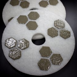 17 inch honeycomb diamond floor polishing pad for 17 floor buffer pads