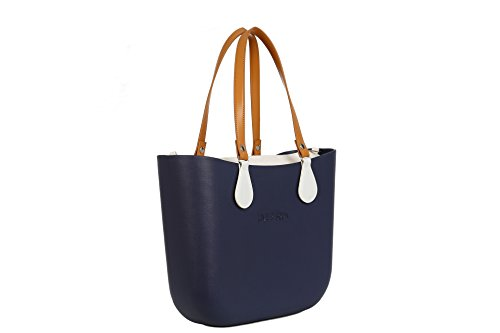 Lime & Soda Women's Fashion Eva Handbag - Simil Leather Handles - Mix & Match to find your style (Blue Special)