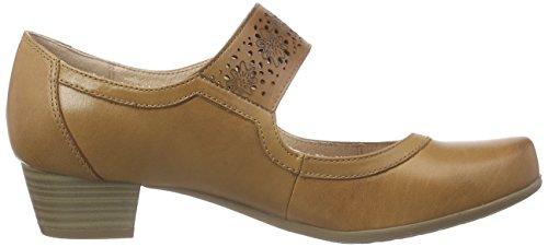 Marron Pieds cognac Talons Braun 24300 Chaussures Caprice Femme Du Avant Couvert 305 À YzSxR