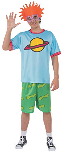 Rubie's Men's Splat Rugrats Finster Costume Top and Headpiece, Chuckie, X-Large