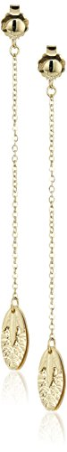TreEsse Italian 10k Yellow Gold Linear Drop Post Earrings by Amazon Collection