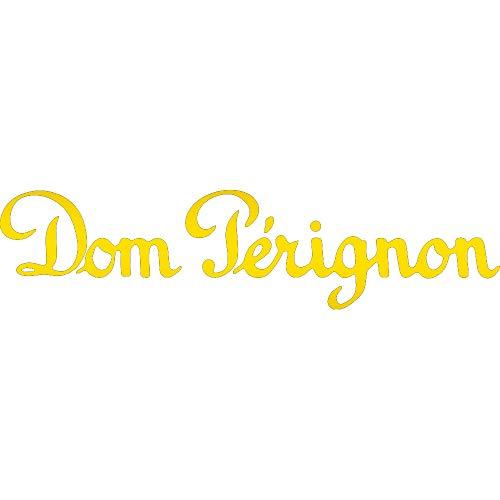 (NBFU DECALS Logo DOM PERIGNON 1 (Metallic Gold) (Set of 2) Premium Waterproof Vinyl Decal Stickers for Laptop Phone Accessory Helmet CAR Window Bumper Mug Tuber Cup Door Wall Decoration)