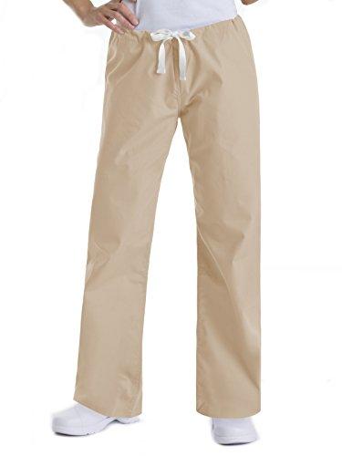 - Landau Urbane Essentials 9502 Women's Relaxed Drawstring Scrub Pant Sandstone L