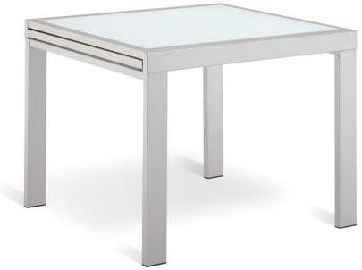Tavolo Quadrato Allungabile Bianco.Arredinitaly Tavolo Quadrato Allungabile A Libro 90 180 Acciaio