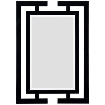kenroy home shinto wall mirror with gloss black finish 29 by 41 inch