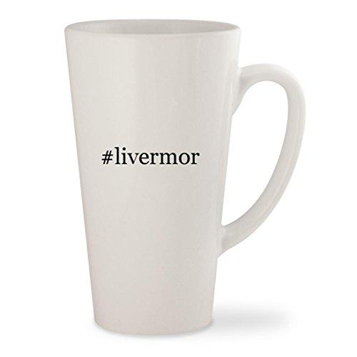 #livermor - White Hashtag 17oz Ceramic Latte Mug - Ca Livermore Outlets