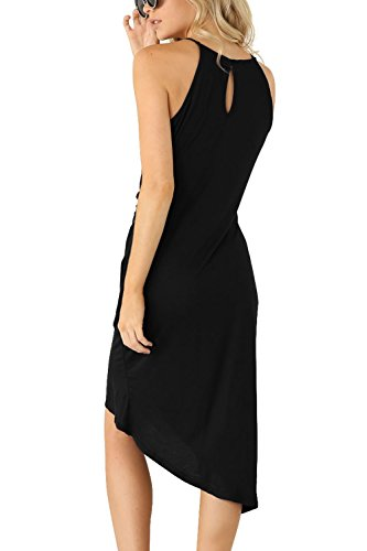 0e1ee2748366 Eliacher Women s Casual Spaghetti Strap Summer Dress Bodycon Midi Party  Sleeveless Dresses