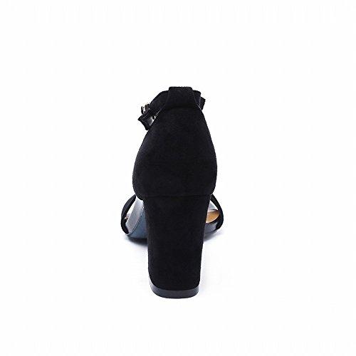 Scarpe Col Sandalo Scarpe Fibbia un Romane Tacco Pelle in UN 2018 39 DIDIDD Alto con Sandali Scamosciata Femminile Moda Spessa xwq1aXfY