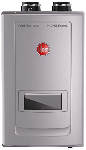 Rheem RTGH-RH11DVLN  Prestige Series Professional Condensing Tankless Gas Water Heaters With Built-in Recirculation, Grey