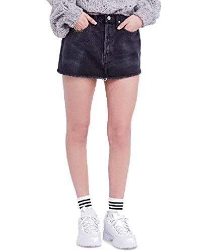 Free People Womens Vintage She's All That Denim Mini Skirt Black 29