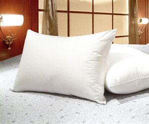 Queen Size White Goose Feather and Goose Down Pillows - Set of 2