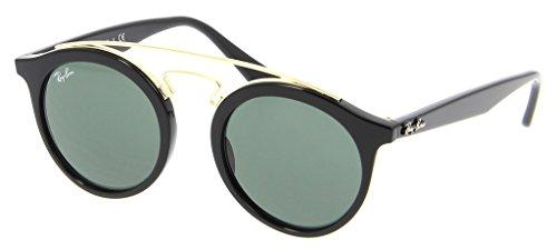 Ray Ban RB4256 601/71 49 Black/Dark Green Phantos Sunglasses Bundle-2 - Sunglasses Ban Phantos Ray Round
