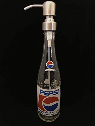 Glass Dispenser for Soap or Lotion Pepsi Repurposed Bottle