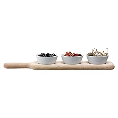 LSA International P216-08-517 Paddle Bowl Set & Oak Paddle, 15.75