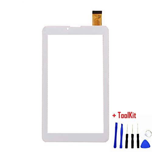 Touch Screen Digitizer Replacement for Plum Optimax 7.0 Z709 7 Inch Phablet Smart Phone PC (White) (Phablet Replacement Screen)