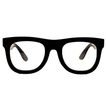 Thick Bold Vintage Wayfarer Retro Clear Sunglasses Eyeglasses Black E03
