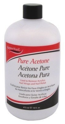 (Super Nail Pure Acetone Polish Remover, 16 Oz (2-Pack) by Super Nail)