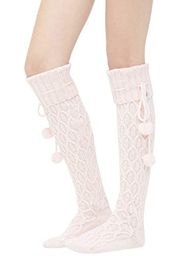 UGG Women's W Sparkle Cable Knit Sock, Seashell Pink,, used for sale  Delivered anywhere in USA