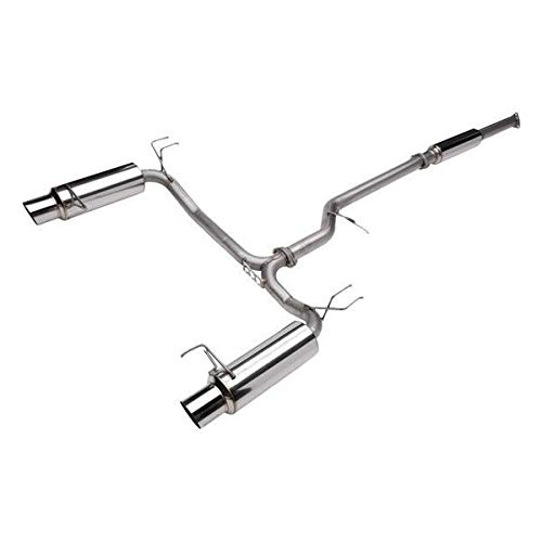 (Skunk2 Racing 413-05-2030 MegaPower Cat Back Exhaust System 2.25 in. Dia. Incl. Tubing/Silencer/Muffler/Hardware/4 in. Polished Tip Bolt On/No Modification Req. T-304 Stainless Steel MegaPower Cat Back Exhaust System)